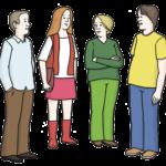 Gespräch Gruppe